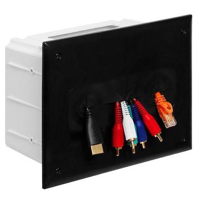 Datacomm 45 0010 Bk Recessed Media Box Black Datacomm Recessed Media Box