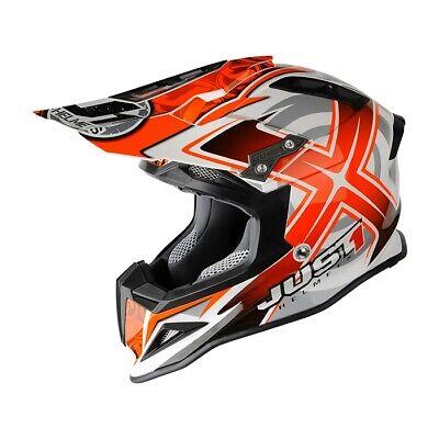 New JUST1 J12 Carbon-Fiber Mister-X Motocross/Offroad Helmet! Just-1 Closeout!