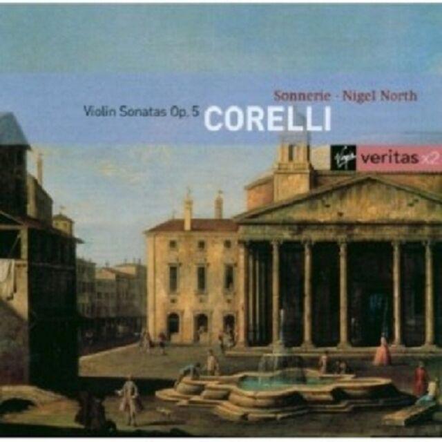N./TRIO SONNERIE NORTH - VIOLINSONATEN ARCANGELO CORELLI 2 CD 12 TRACKS NEU