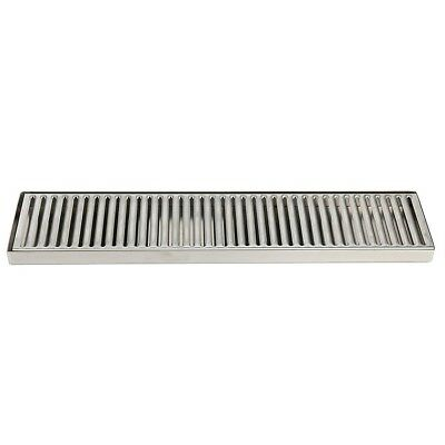 19 X 4 Stainless Steel Drip Tray - Surface Mount No Drain Surface Mount Beer