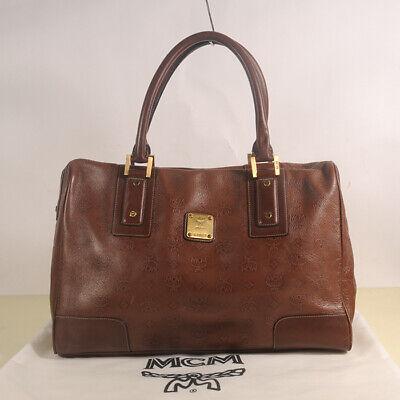 AUTHENTIC MCM Leather Tote Shoulder  Bag + Dust Bag