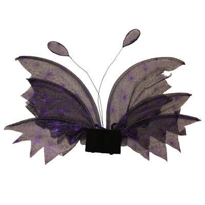Flügel lila/schwarz Kostümflügel Halloween Spinnennetz Karnevalskostüm
