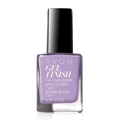 AVON GEL FINISH 7-IN-1 NAIL ENAMEL LAVENDER SKY NIB