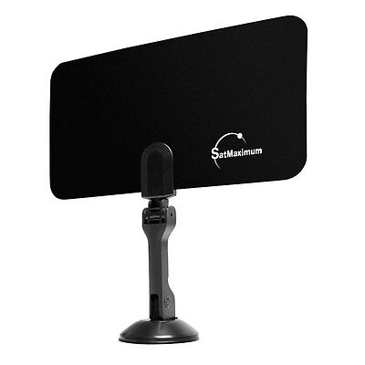 Indoor Uhf Hdtv - Digital Indoor VHF UHF Ultra Thin Flat TV Antenna 1080p for HDTV DTV HD Ready