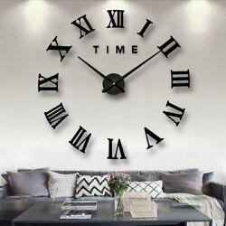 Oversized DIY Creative Design 32 Wall Clock Roman Numeral black Conversation