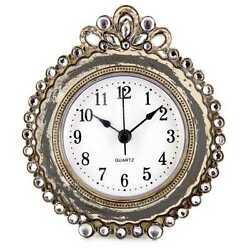 Antique Gray Round Decorative Table Clock.Gorgeous  Home Decor . New