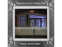 MERLINS JEM: EDWARDS LEISURE CARAVAN PARK, TOWYN, N WALES: SLEEPS 6 MAX, NO PETS
