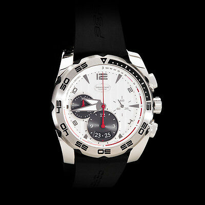 Parmigiani Fleurier Pershing 002 Automatic Chronograph. White Dial.