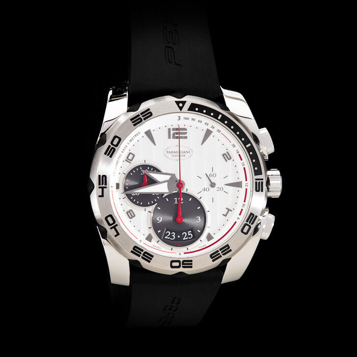 Parmigiani Fleurier Pershing 002 Automatic Chronograph. White Dial. - watch picture 1