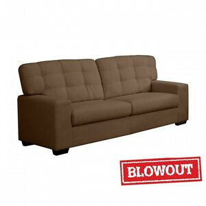 Tufted Back Rest Sofa - Available in Dark Brown or Dark Grey