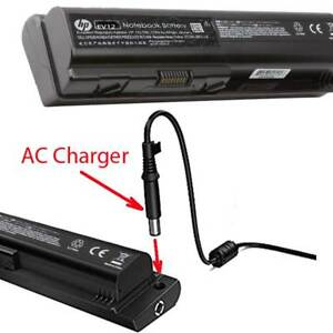 HP extented battery. 12 cell, 10.8 V, 8400 mAh, AC charger port