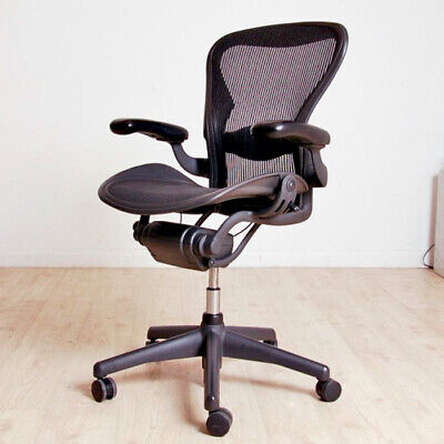 HERMAN MILLER AERON CHAIR SIZE B FULLY LOADED, REFURBISHED FREE DELIVERY