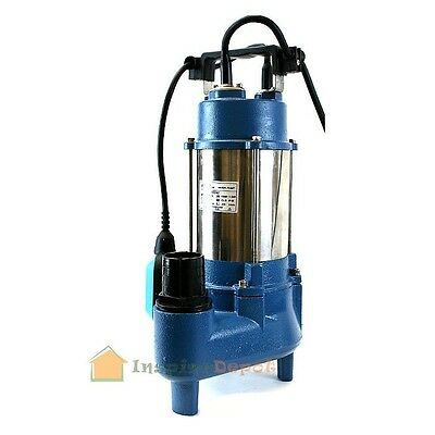 - 1.6HP Sewage Pump 7100GPH 220V Stainless Steel Submersible Sump Water 1.6 HP