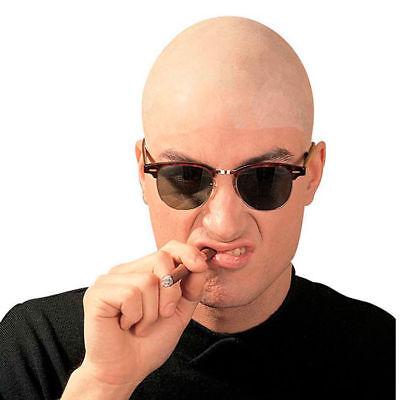 Glatzen Perücke aus Latex, Glatzkopf künstliche Glatze Kostümzubehör - Glatzkopf Kostüm Perücke