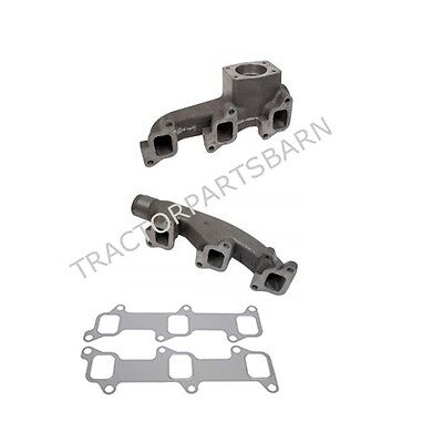 Ford Tractor New 8000 8200 8600 9000 9200 9600 2 Pc Exhaust Manifold W Gaskets