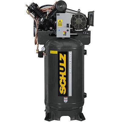 Schulz Air Compressor 7.5hp 3 Phase - 80 Gallon Tank - 30cfm - 175 Psi
