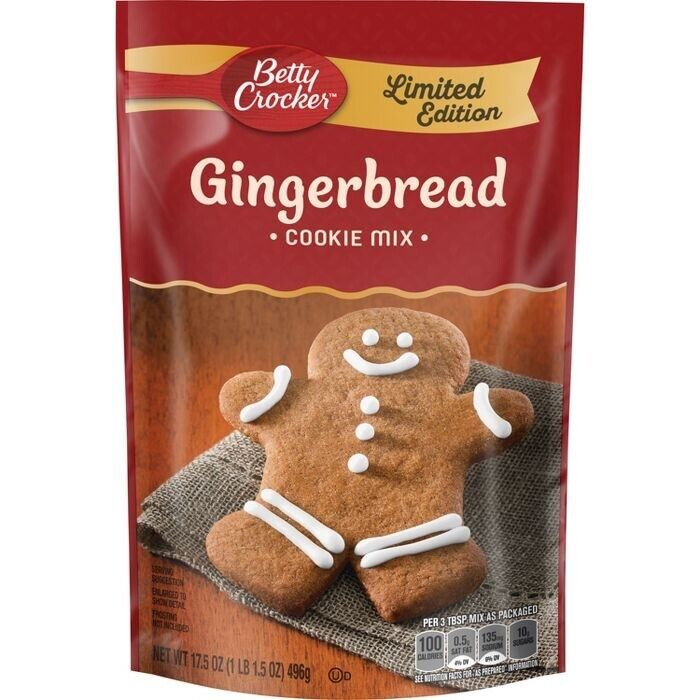 12 Bags Betty Crocker Gingerbread Cookie Mix Limited Edition 17.5oz