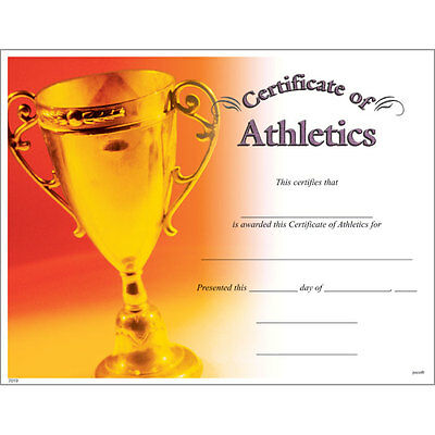 Award Certificate of Athletics, Pack of 10](Certificate Of Award)