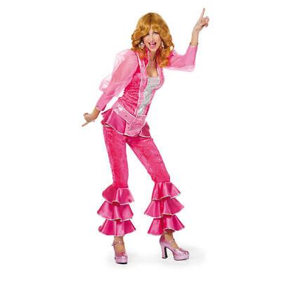 Damen-Kostüm Party-Woman, pink Discoqueen ABBA Partygirl    - Abba Kostüm Damen