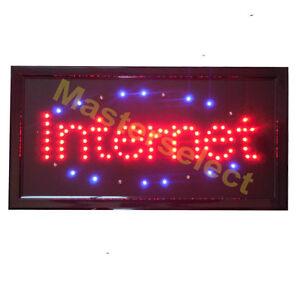 panneau enseigne lumineuse a leds internet pour commercant pas cher ebay. Black Bedroom Furniture Sets. Home Design Ideas