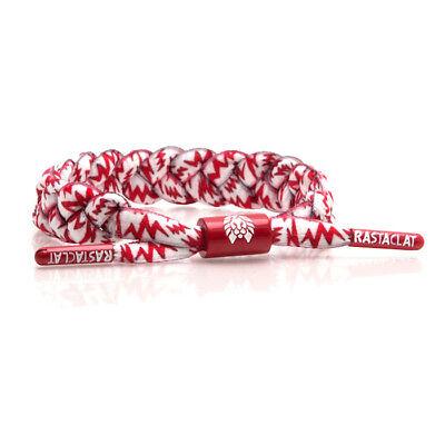 Brand New RASTACLAT Electro White Lightning Braided Shoelace Bracelet