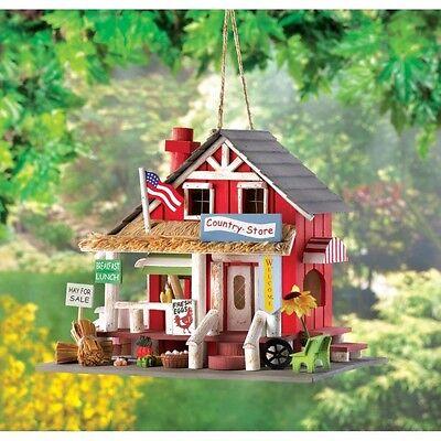 COUNTRY STORE Wooden Birdhouse Bird House Garden Decor New!