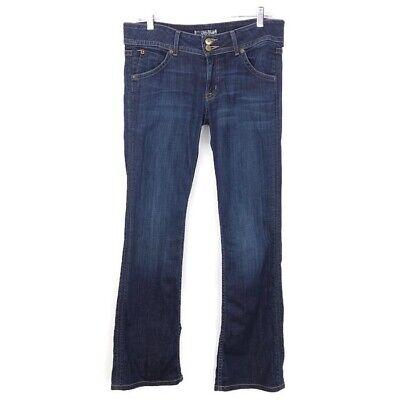 Hudson Jeans Signature Bootcut $189 Women Size 31 Stretch Cotton Dark Denim USA Dark Denim Bootcut Jeans