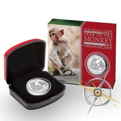 2016 Australia 1 oz Silver Lunar Monkey Proof (w/Box & COA)