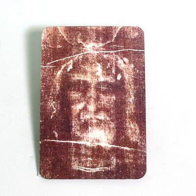 Lenticular 3D Holographic Stereoscopic Jesus Shroud of Turin Holy Face Card