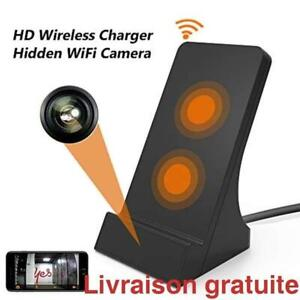 Camera espion, chargeur de telephone sans fil / Hidden WiFi Camera,2 Hours wireless Fast Charger