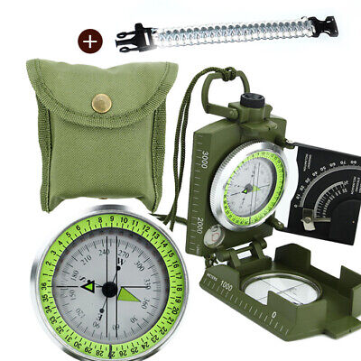 Compass Clinometer Professional Military Army Metal Sighting