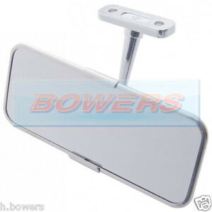 universal stainless steel chrome classic or kit car interior rear view mirror ebay. Black Bedroom Furniture Sets. Home Design Ideas
