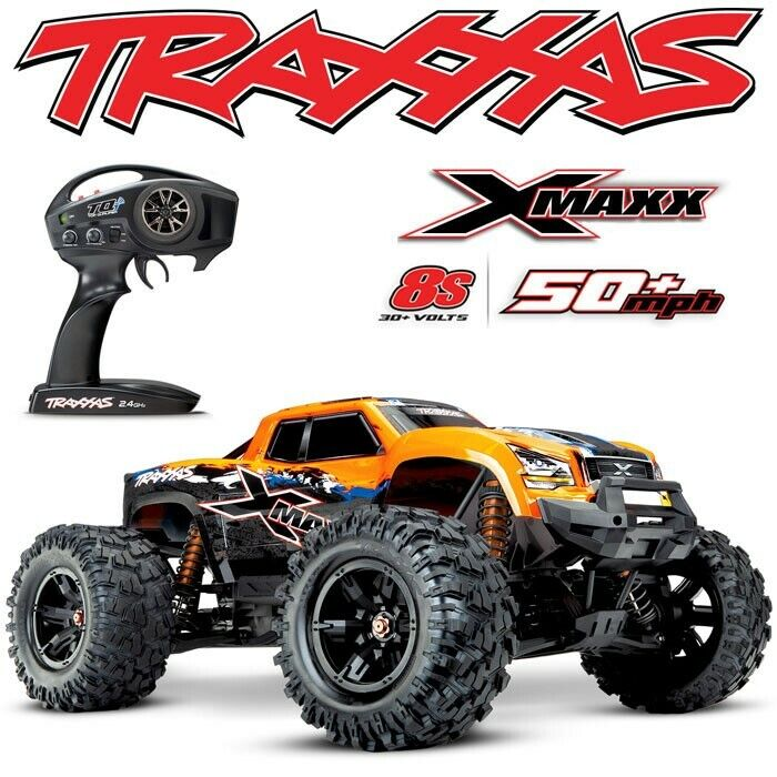 NEW TRAXXAS X-MAXX 8S BRUSHLESS 4WD MONSTER TRUCK ORANGEX 50+MPH - FREE S/H