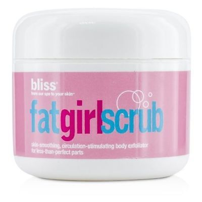 - Bliss FatGirlScrub Skin Smoothing, Stimulating Body Exfoliator, 2.7 Oz