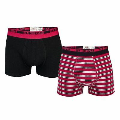 Men's Ben Sherman 2 Pack Jeremiah Boxer Shorts in Black