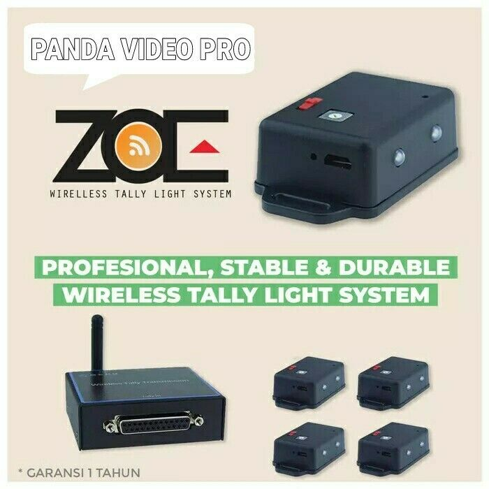 Zoe Wireless Tally Light System for Atem Blackmagic Design
