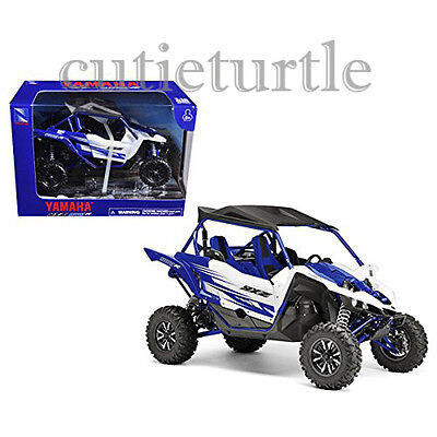 New Ray Yamaha YXZ1000R Triple Cylinder Motorcycle ATV Buggy 1:18 57813A Blue for sale  Shipping to India