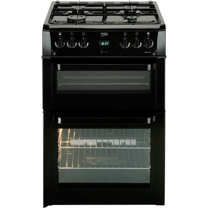 BEKO BLACK 60CM DOUBLE GAS COOKER - BUY NOW PAY LATER!!