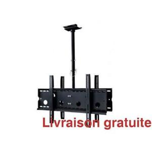 Support de plafond pour 2 TV / Ceiling Mount Bracket for 2 TV,