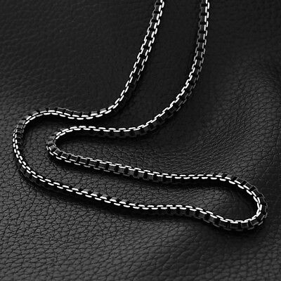 Pendant Chain Black Trendy Stainless Steel Box Link - Black Link Kostüm