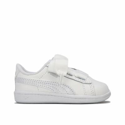 Girl's Puma Infant Vicky Ribbon Trainers in White