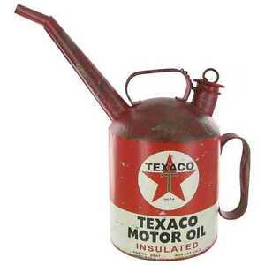 Texaco  Blech Ölkanne US Gasoline Tankstelle Zapfsäule Oldtimer Werkstatt Gieska