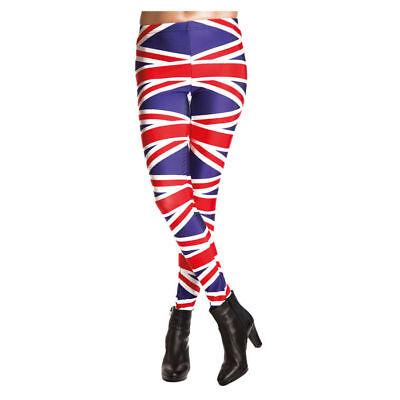 Hose England Leggings, Union-Jack GBR-Fahne Englandflagge Karnevalshose Kostüm