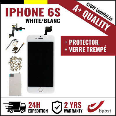 A+ LCD SCREEN SCHERM ÉCRAN FULL ASSEMBLY WHITE BLANC +VERRE TREMPÉ FOR IPHONE 6S