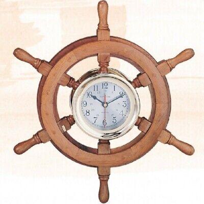 Ships Wheel Captain's Clock, 18