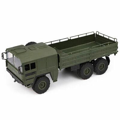 JJRC Q64 1:16 2.4G 6WD gebürstet RC Auto Armee Grün Military Truck Rock