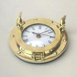 NAUTICAL NAVIGATION MARINE Brass SHIP PORTHOLE Battery Quartz WALL CLOCK 6 New