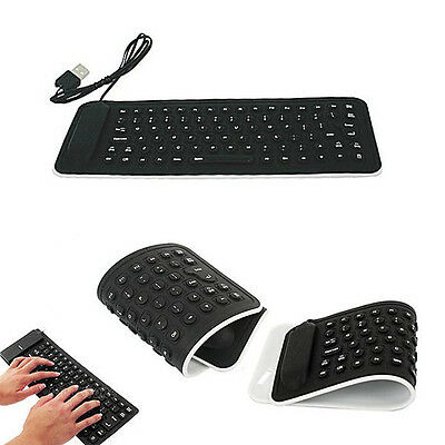 Portable USB Mini Flexible Silicone PC Keyboard Foldable For Laptop Notebook PC