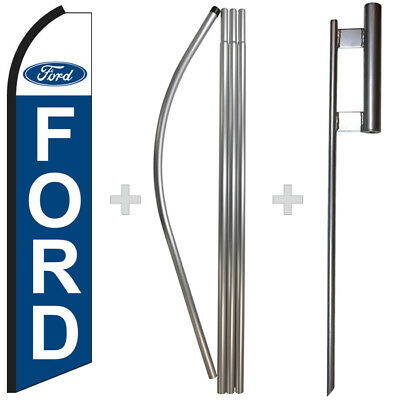 Ford 15 Tall Swooper Flag Pole Kit Feather Super Banner