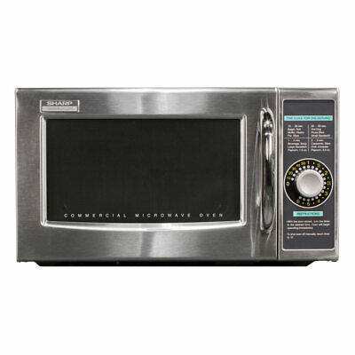 Sharp R-21lcfs 1000w Commercial Microwave W Dial Control 120v